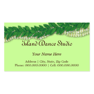 hawaiian lei1 Double-Sided standard business cards (Pack of 100)