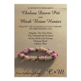 Hawaiian Lei Beach Wedding Invitation