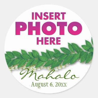 hawaiian lei classic round sticker