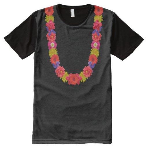 Hawaiian lei custom t shirt zazzle for Hawaiian design t shirts