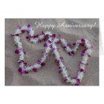 hawaii, anniversary, maui, lei, beach, hearts,