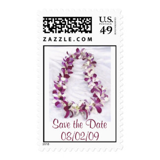 Hawaiian Lei - Save the Date or Other Event Stamp