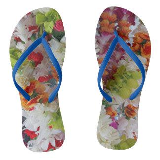 Hawaiian Lei Stand Flip Flops