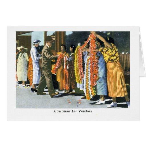 Hawaiian Lei Vendors Greeting Card