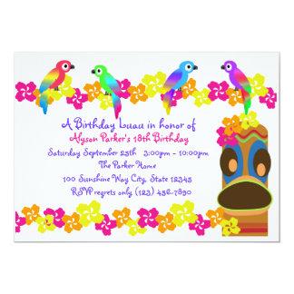 Hawaiian Luau 5x7 Paper Invitation Card