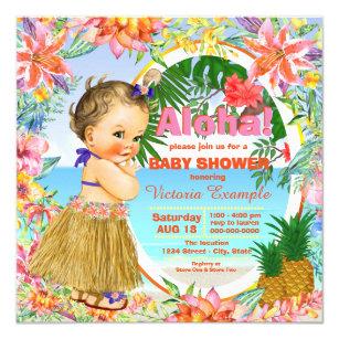 Hawaiian Luau Baby Shower Invitation