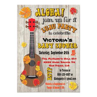 Hawaiian Luau Baby Shower Invitations