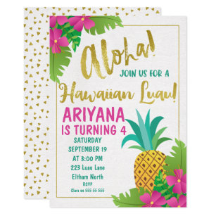 Luau Birthday Invitations Announcements Zazzle
