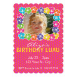 Hawaiian Luau Birthday Party Custom Invites