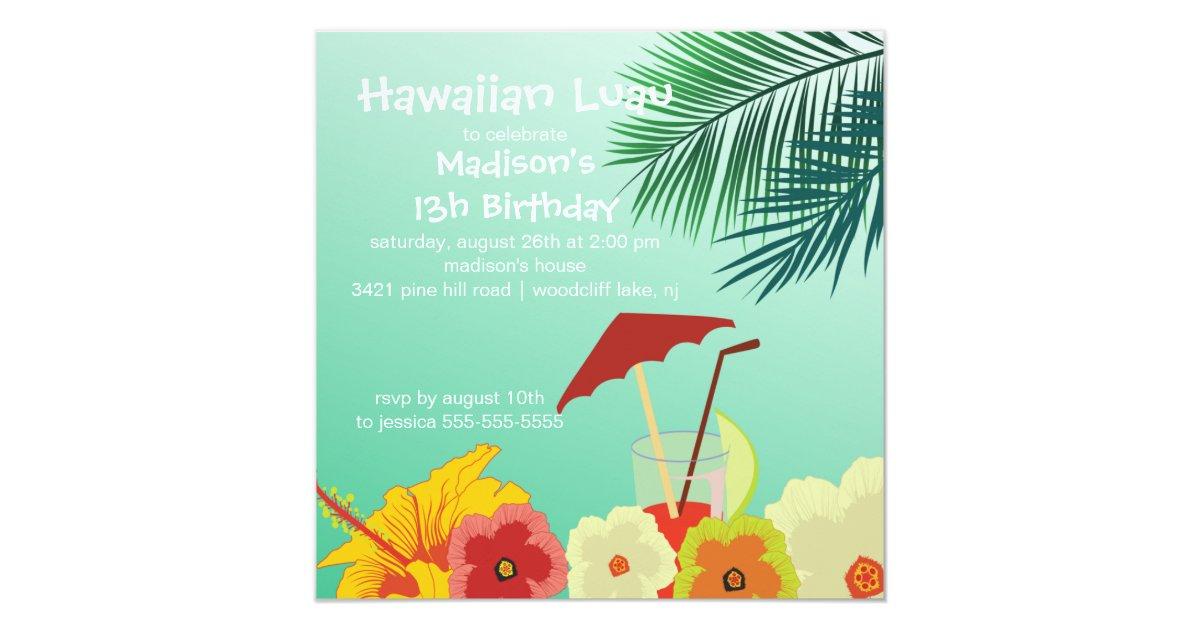 Hawaiian Birthday Card Designs