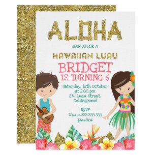 hawaiian birthday invitations zazzle