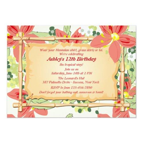 Popular 25 Hawaiian Birthday Invitations | Popular Invitation