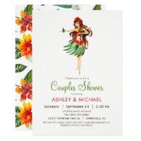 Hawaiian Luau Couples Shower Invitation