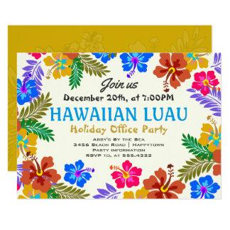 Hawaiian Luau Custom Party Hibiscus Invitations