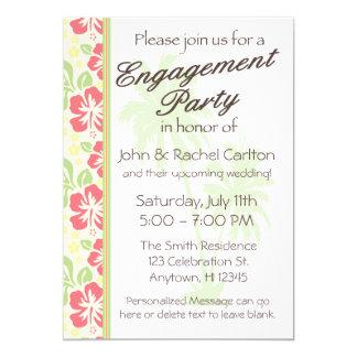 Luau Engagement Party Invitations Announcements Zazzle