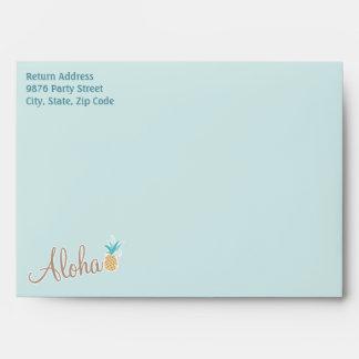 Hawaiian Luau Envelope Style: A7 Greeting Card