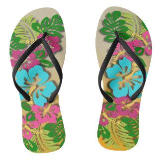 Hawaiian Luau Flip Flops