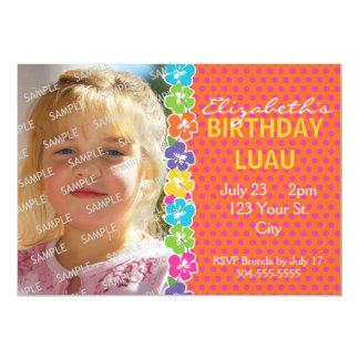 Hawaiian Luau Party 5x7 Paper Invitation Card