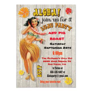 Hawaiian Luau Party Invitations