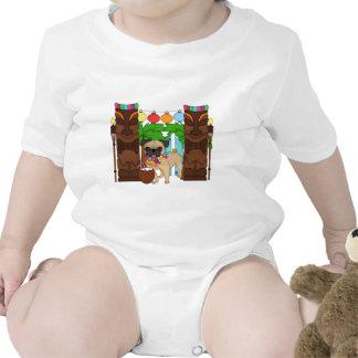 Hawaiian Luau Pug - Customizable T-shirt