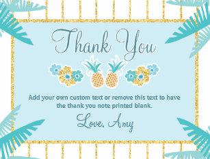 Luau Thank You Cards Zazzle