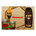 Hawaiian Luau Thank You Cards Note Card