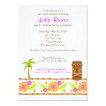 Hawaiian Luau Tropical 5x7 Bridal Shower Invite