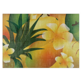 Hawaiian Luau Tropical Food Cutting Board