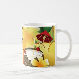 Hawaiian Luau Tropical Tiki Bar Collage 11oz.Mug Classic White Coffee Mug