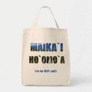 """Hawaiian """"Maika`i Ho`omo`a"""" Grocery Tote"""