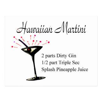 Hawaiian Martini Postcard