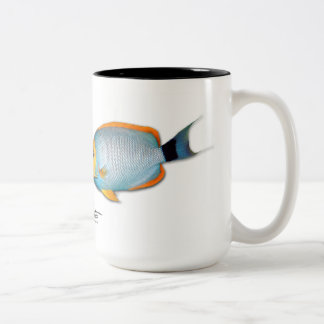 Hawaiian Masked Angelfish, Genicanthus personatus Two-Tone Coffee Mug
