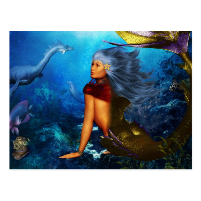 Hawaiian Mermaid Postcards