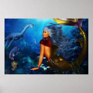Hawaiian Mermaid Poster