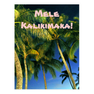 Hawaiian Merry Christmas Postcard