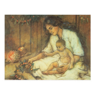 Hawaiian Mother and Child Postcard