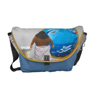 Hawaiian Music Tribute Art Messenger Bag