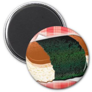 Hawaiian Musubi 2 Inch Round Magnet