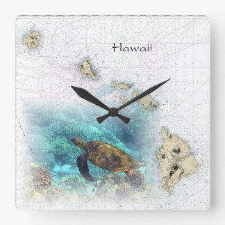 Hawaiian Nautical Map clock