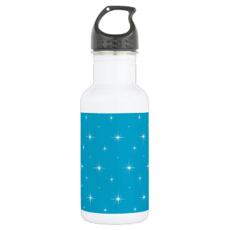 Hawaiian Ocean Blue And Bright Stars Pattern Stainless Steel Water Bottle