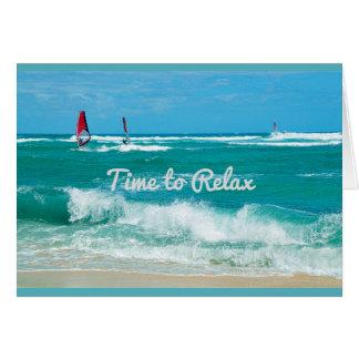 Hawaiian Ocean Waves Birthday Card