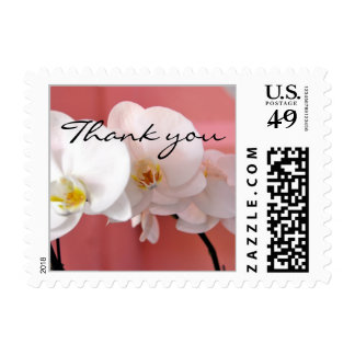 Hawaiian Orchid Wedding Thank You Postage