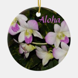Hawaiian orchids Christmas ornament