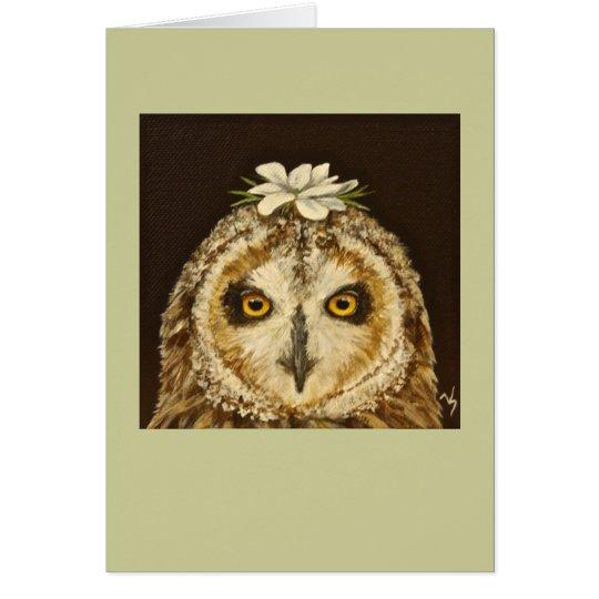 hawaiian owl card