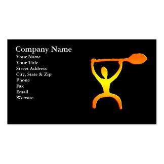Hawaiian Paddle Man Petroglyph Business Card