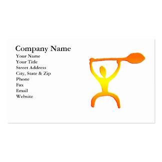 Hawaiian Paddle Man Petroglyph - Business Card