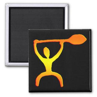 Hawaiian Paddle Man Petroglyph - Magnet