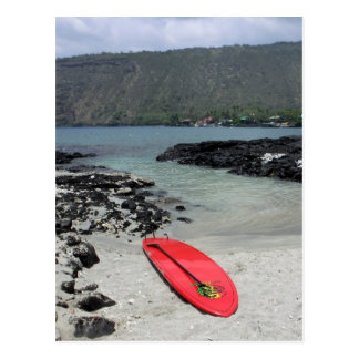 Hawaiian paddleboard scenic beach postcard