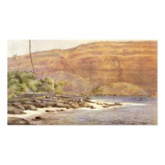 Hawaiian Painting circa 1887 Business Card
