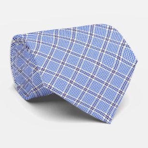 92627069f Hawaiian Palaka Plaid Blue Single Sided Tie